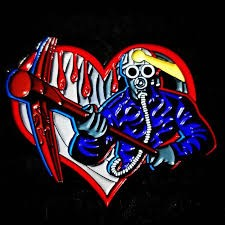 MY BLOODY VALENTINE ENAMEL PIN BY FRIGHT RAGS EXCLUSIVE SUPER RARE AND DISCONTINUED HURRY ONLY 3 LEFT!!!
