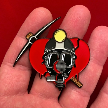 MY BLOODY VALENTINE ENAMEL PIN BY PIXEL ELIXIR EXCLUSIVE SUPER RARE AND DISCONTINUED