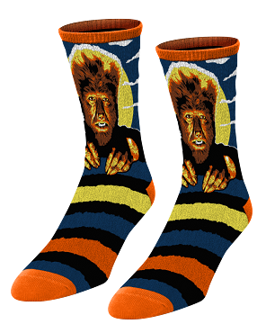 UNIVERSAL MONSTERS THE WOLF MAN SOCKS